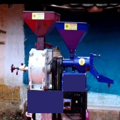 New Combined Machine ( Mini Rice Mill + Flour Mill 14 Inch) 2019